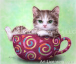Wine Color Cup Kitten