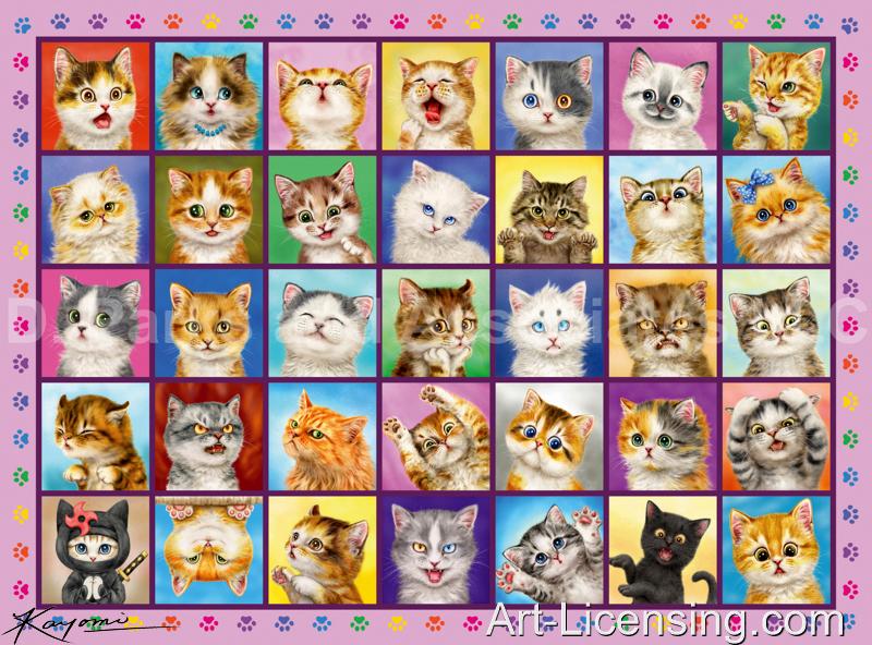 Kayomi Harai-CatsCatsCats Pink