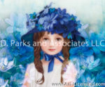 Blue Flowers on the Hat