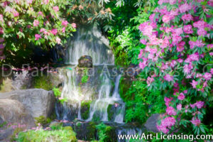 041Art-Rhododendron Waterfall-by AYAKO