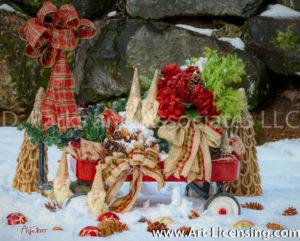 1718Art-Christmas Snow Wagon-by AYAKO
