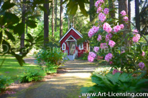 3266Art-Stanne Chapel in the Rhododendron Garden-by AYAKO