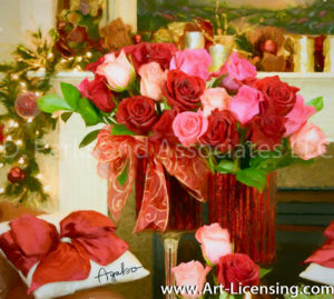 4932Art-Christmas Roses Bouquet-by AYAKO