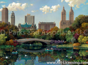 New York-Central Park Bow Bridge-by Alexander Chen