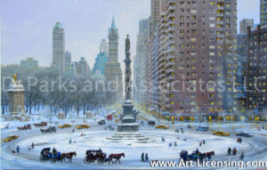New York -Columbus Circle Winter Wonderland-by Alexander Chen