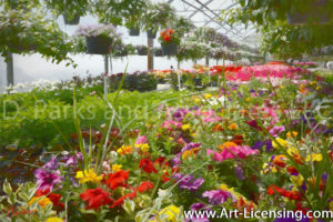 0639SArt-Flower Greenhouse