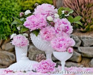 1638SArt-Pink Peony Bouquet