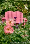 7054S-Pink Peonies and Pink Chair