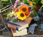8533-Sunflower-Winged statice-Lysimachia-Hypericum-Loo